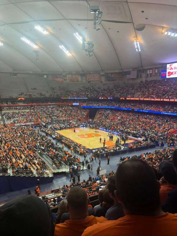 Carrier Dome, section: 319, row: F, seat: 18
