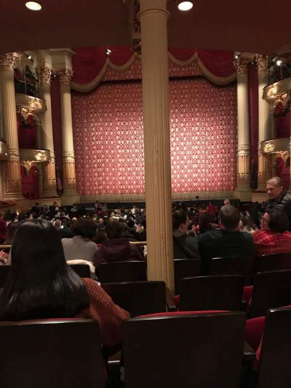 Academy of Music, section: Parquet circle E, row: X, seat: 104