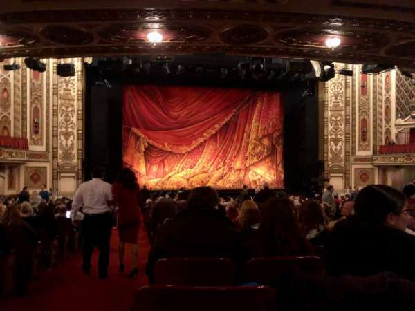 Cadillac Palace Theater, section: Orchestra C, row: X, seat: 101
