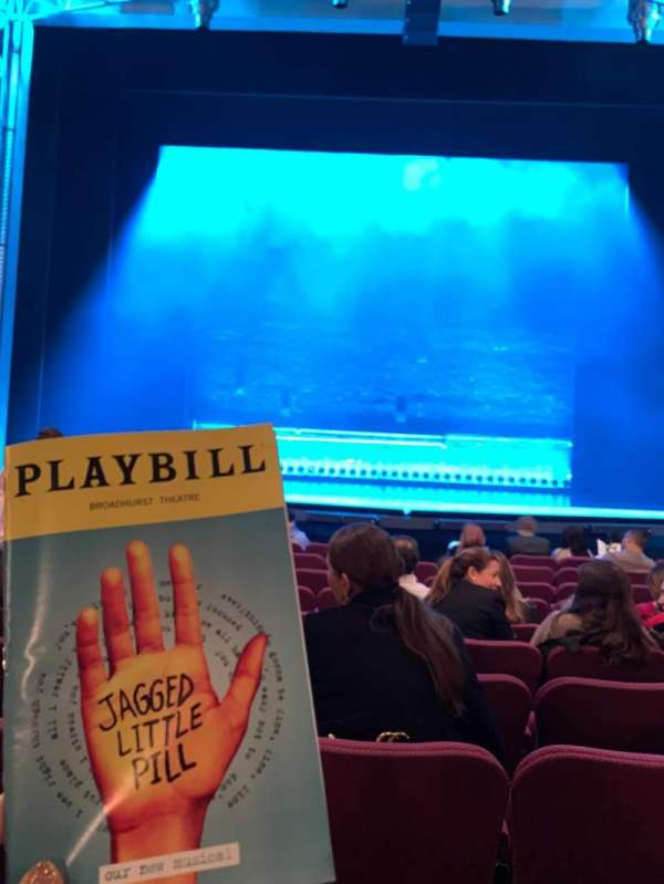 Broadhurst Theatre, section: Orchestra C, row: K, seat: 106