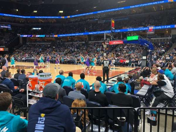 FedEx Forum, section: 107, row: E, seat: 7