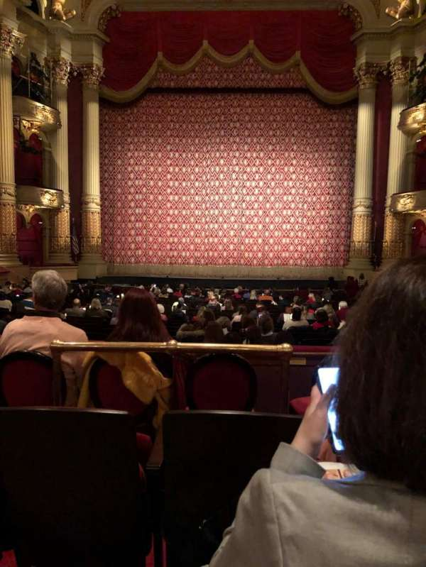 Academy of Music, section: Parquet Circle E, row: V, seat: 107