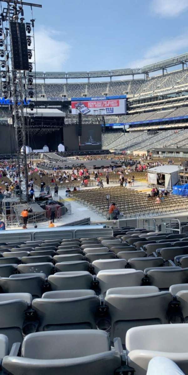 MetLife Stadium, section: 129, row: 20, seat: 7