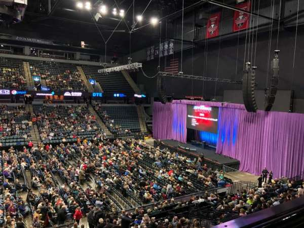 Van Andel Arena, section: 222, row: A, seat: 8