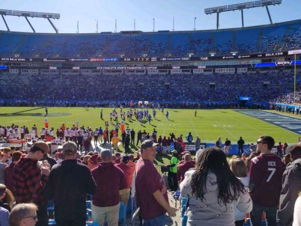 Bank of America Stadium, section: 109, row: 13, seat: 15