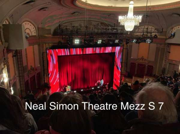 Neil Simon Theatre, section: Mezzanine L, row: S, seat: 7