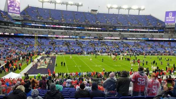 M&T Bank Stadium, section: 103, row: 35, seat: 12