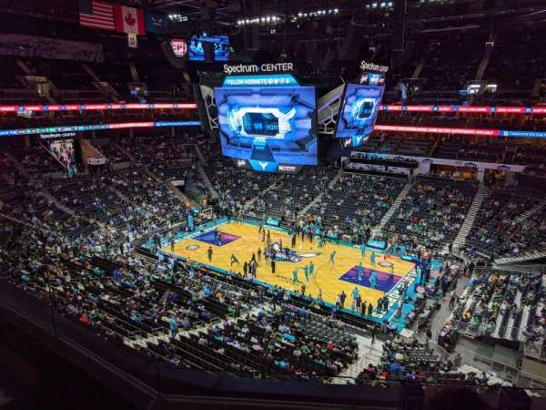 Spectrum Center, section: 223, row: C, seat: 3