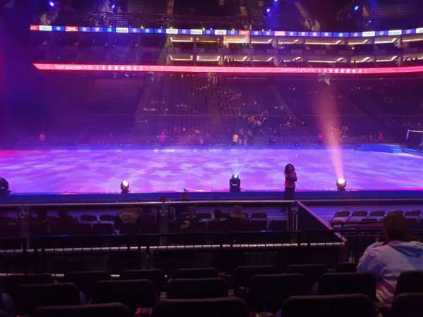 The O2 Arena, section: 102, row: G, seat: 61