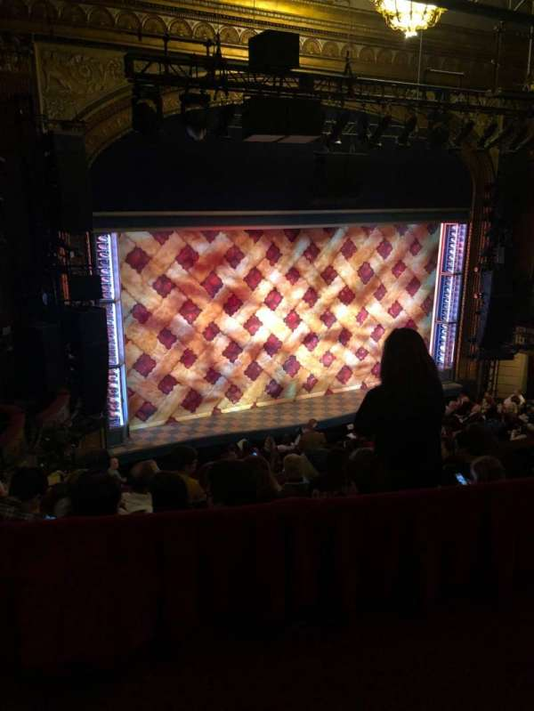Brooks Atkinson Theatre, section: Rear Mezzanine R, row: E, seat: 5