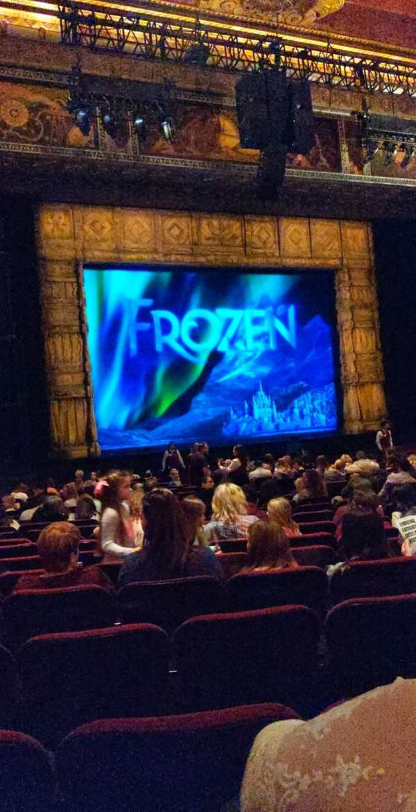 Hollywood Pantages Theatre, section: Orchestra LC, row: V, seat: 310