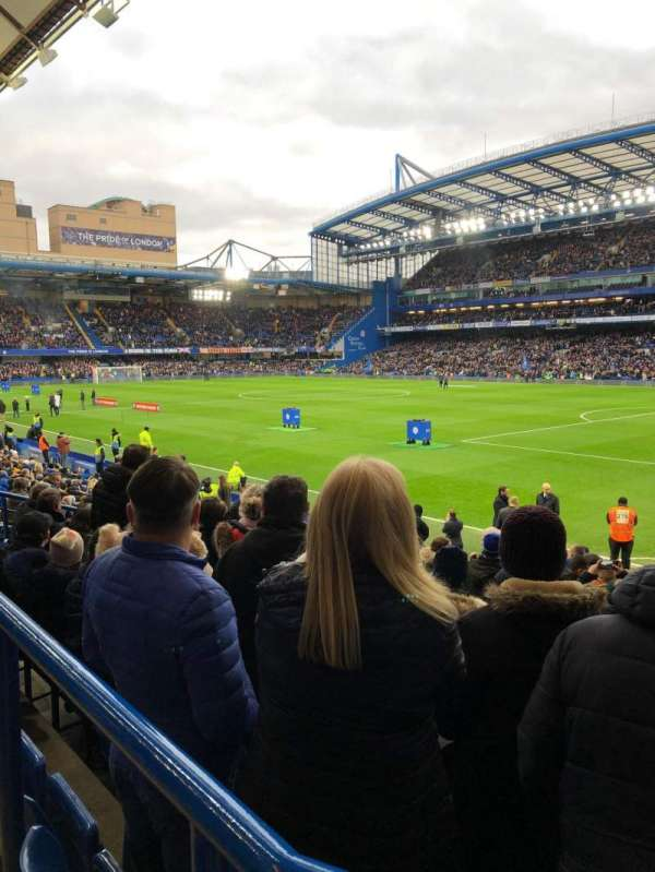 Stamford Bridge , section: Matthew Harding lower, row: T, seat: 190