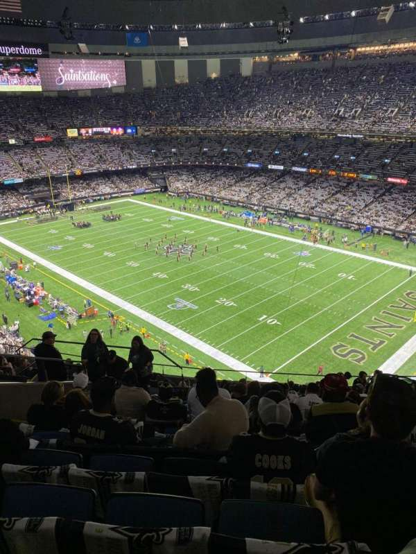 Caesars Superdome, section: 607, row: 16, seat: 15
