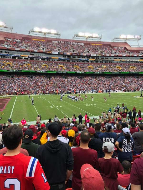 FedEx Field, section: 104, row: 15, seat: 17