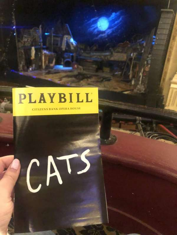 Citizens Bank Opera House, section: Dress Circle RC, row: AA, seat: 16