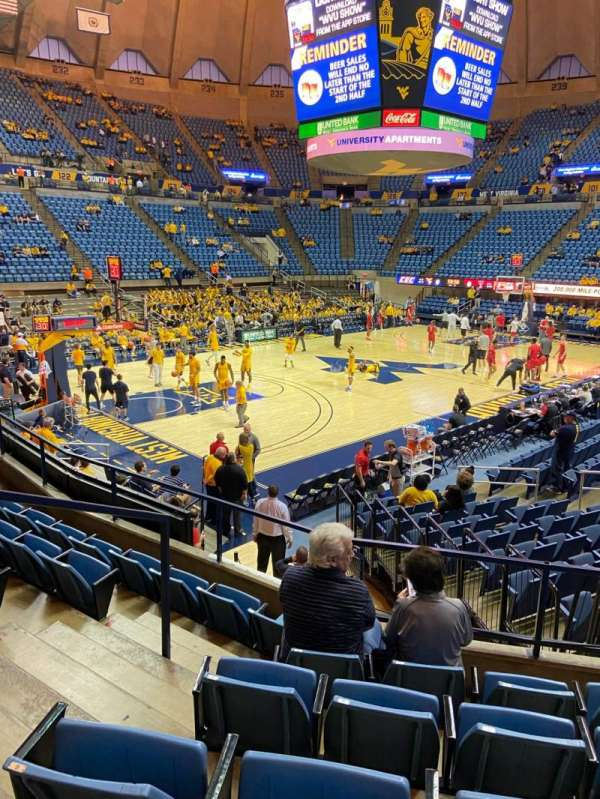 WVU Coliseum, section: 112, row: F, seat: 5