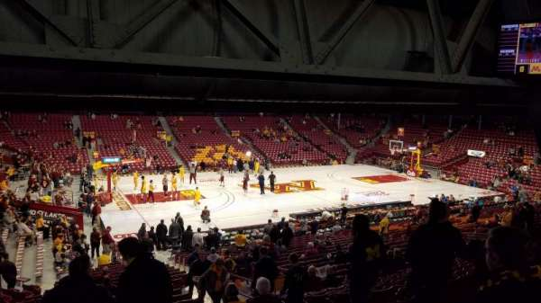 Williams Arena, section: 108, row: 28, seat: 10
