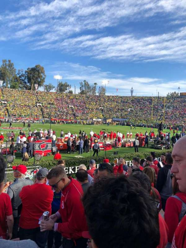 Rose Bowl, section: 18-L, row: 8, seat: 4