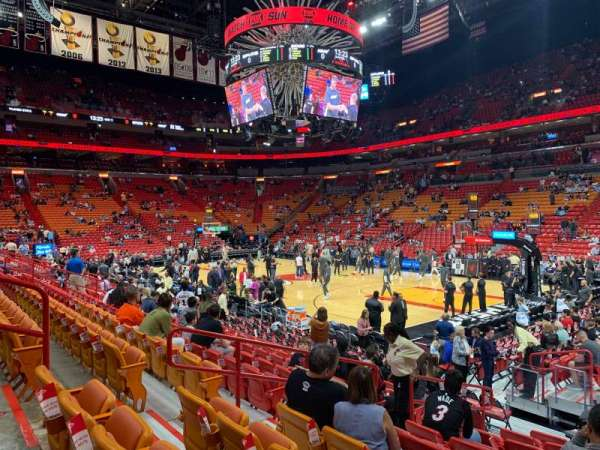 American Airlines Arena, section: 104, row: 13, seat: 3