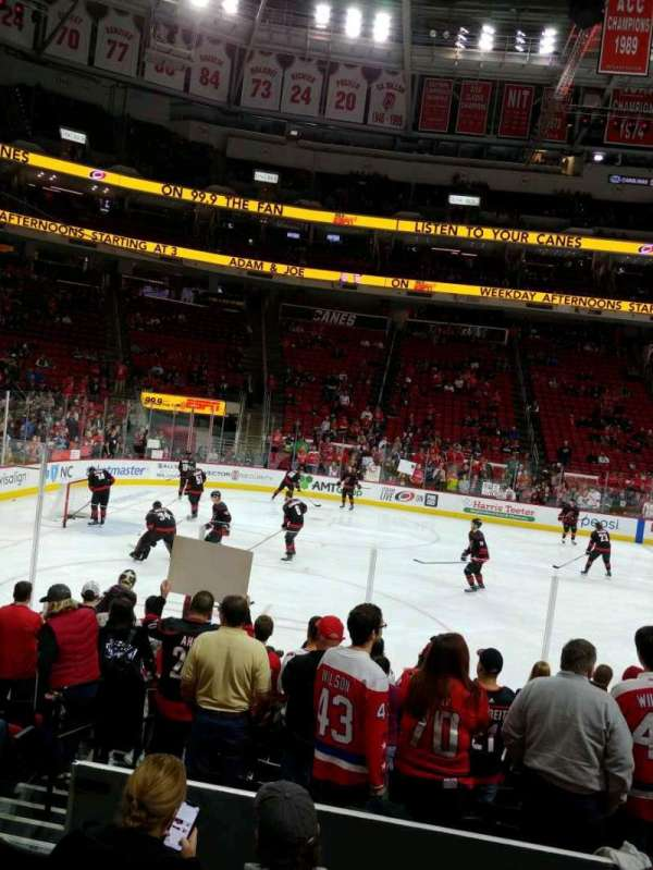PNC Arena, section: 106, row: K, seat: 12