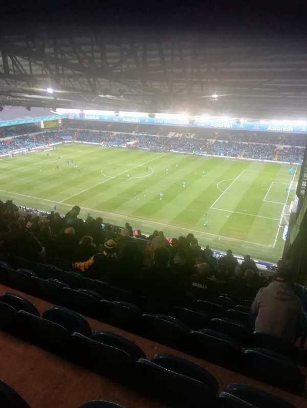 Elland Road, section: East stand upper tier, row: W, seat: 1