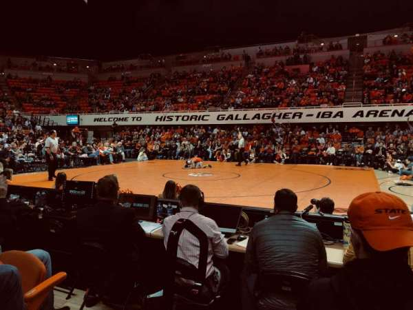 Gallagher-Iba Arena, section: 109, row: 3, seat: 1