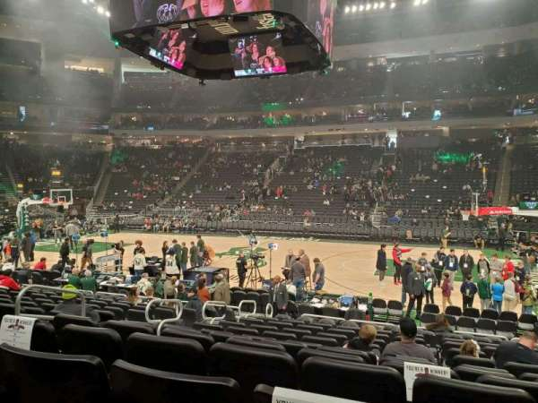 Fiserv Forum, section: 116, row: 11, seat: 13