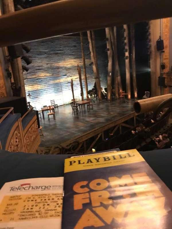 Gerald Schoenfeld Theatre, section: Mezzanine L, row: A, seat: 21