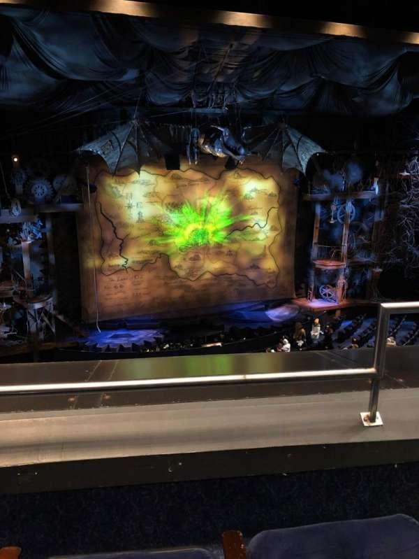 Gershwin Theatre, section: Front Mezzanine L, row: B, seat: 3