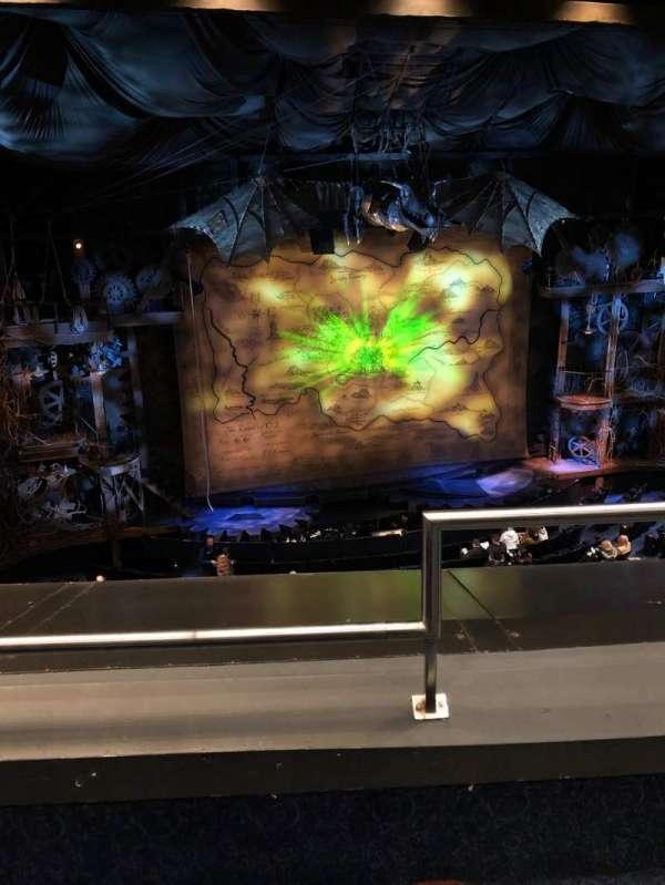 Gershwin Theatre, section: Front Mezzanine L, row: B, seat: 1