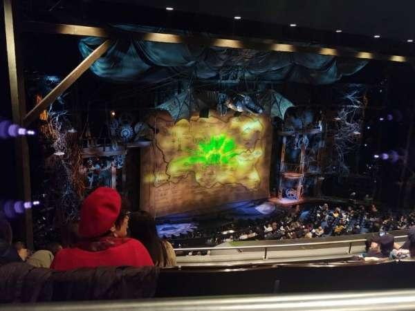 Gershwin Theatre, section: Rear Mezzanine L, row: F, seat: 31