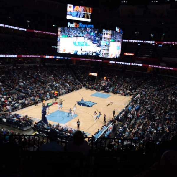 FedEx Forum, section: 102, row: HH, seat: 7