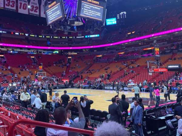 American Airlines Arena, section: 116, row: 8, seat: 3
