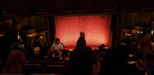New Amsterdam Theatre, section: Mezzanine C, row: QQ, seat: 113