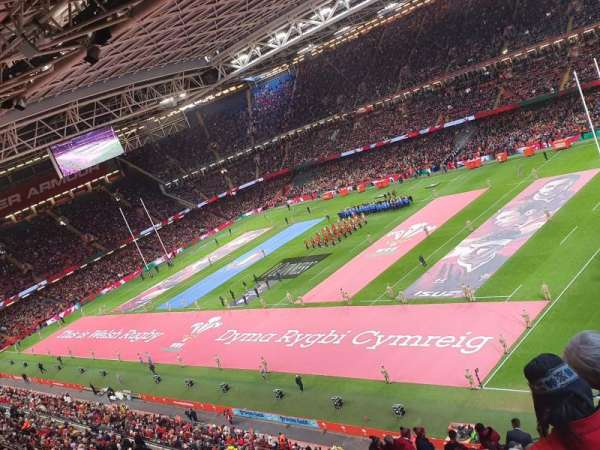 Principality Stadium, section: U25, row: 19, seat: 27