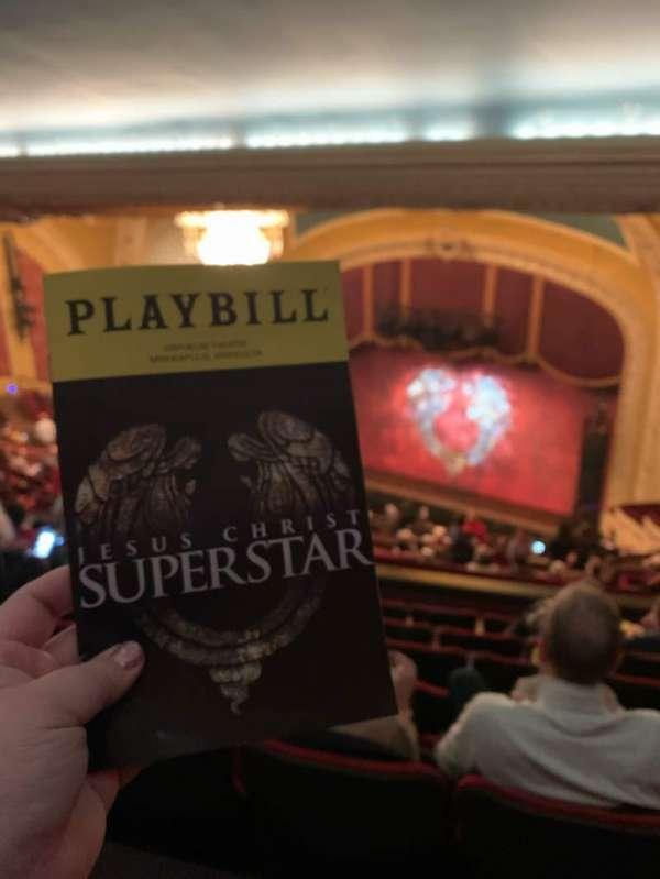 Orpheum Theatre (Minneapolis), section: Balcony 8, row: W, seat: 8