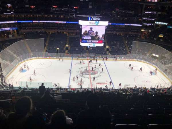 Nationwide Arena, section: 203, row: Q, seat: 20
