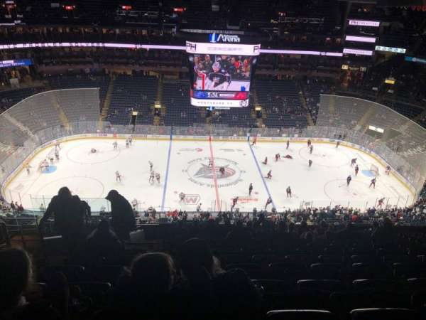 Nationwide Arena, section: 203, row: Q, seat: 19