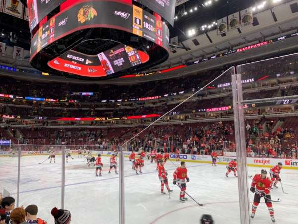 United Center, section: 109, row: 2, seat: 14