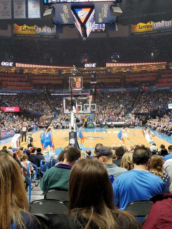 Chesapeake Energy Arena, section: 110, row: QQ, seat: 11