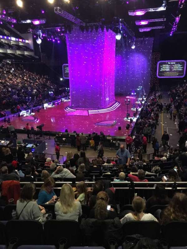 The O2 Arena, section: 108, row: T, seat: 230