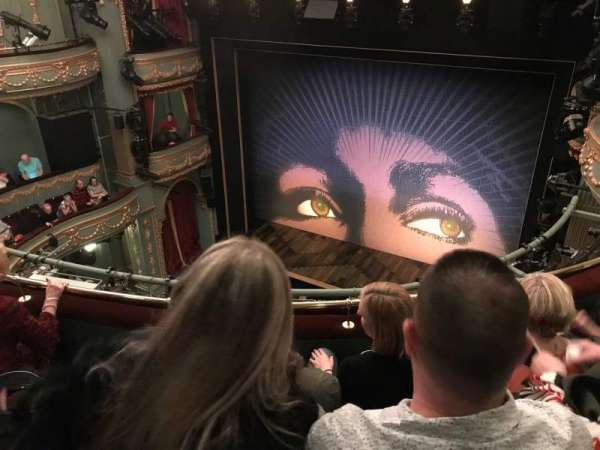 Aldwych Theatre, section: Grand Circle, row: C, seat: 2