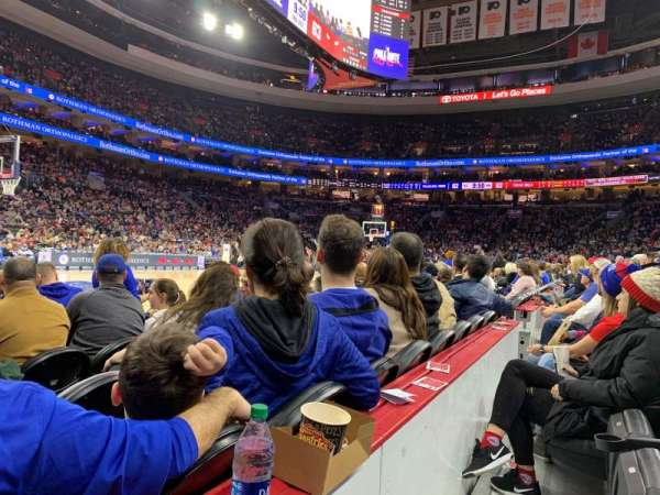 Wells Fargo Center, section: 111, row: 1, seat: 5