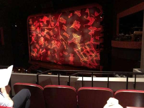 Minskoff Theatre, section: Mezzanine, row: DD, seat: 10