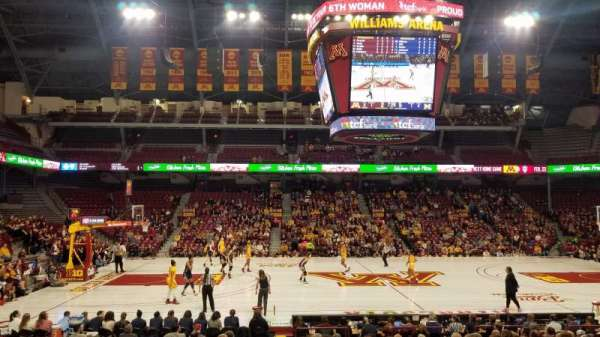Williams Arena, section: 107, row: 18, seat: 2