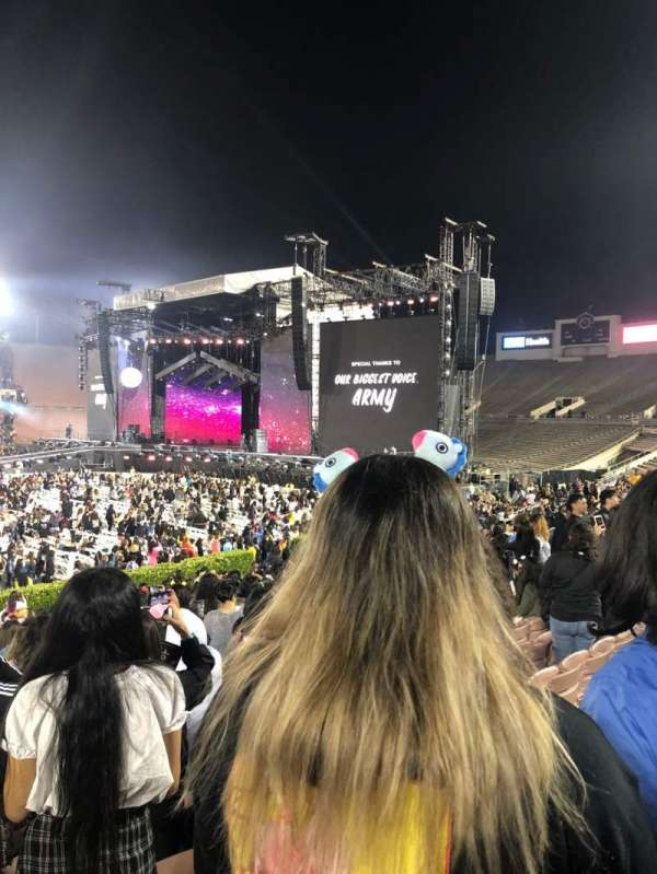 Rose Bowl, section: 18-H, row: 19, seat: 101