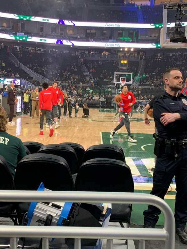 Fiserv Forum, section: 111, row: 2, seat: 20