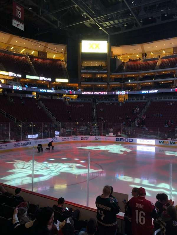 Gila River Arena, section: 112, row: G, seat: 19