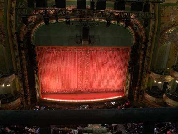 New Amsterdam Theatre, section: Balcony C, row: A, seat: 112