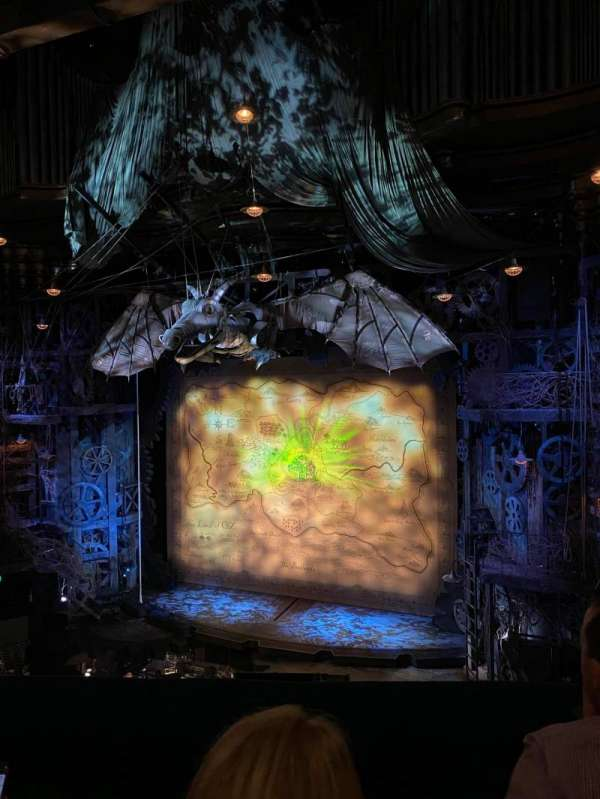Apollo Victoria Theatre, section: Dress circle, row: B, seat: 10